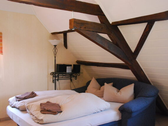 Schlafbereich des Ferienapartments - Dachgeschossaparment